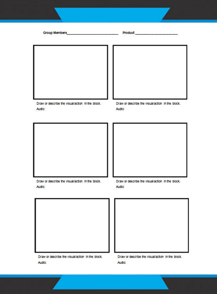 Widescreen Storyboard Layout