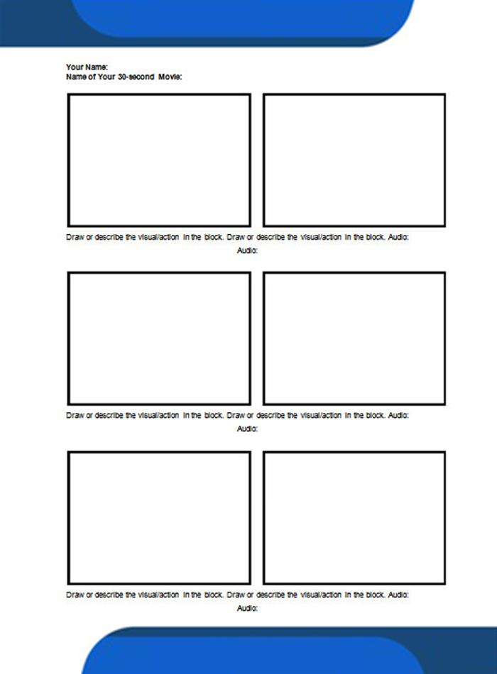 Storyboard Template Printable