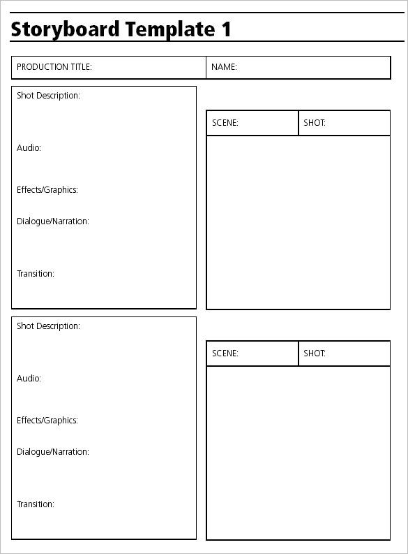 Storyboard Template for Video